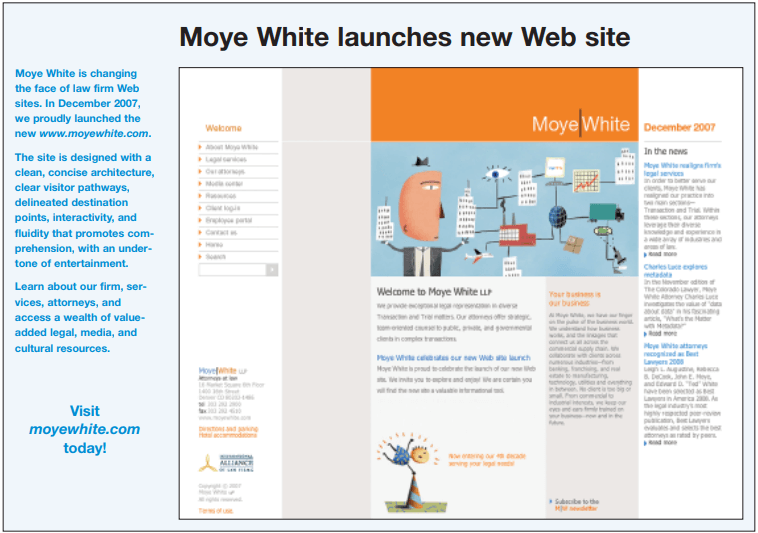 Moye White launches new Web site
